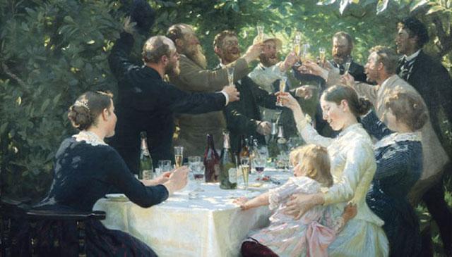 Hip, Hip, Hurra! af P.S. Krøyer